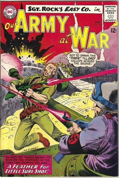 Our Army At War Comic Book #145, DC Comics 1964 FINE+