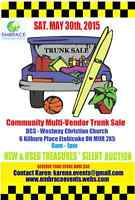 COMMUNITY Trunk Sale May 30th - Vendors Wanted