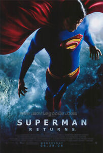 Plaque Mounted Superman Movie Poster