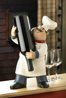 "Happy Chef Wine Bottle Holder Brand New 14"" Tall"