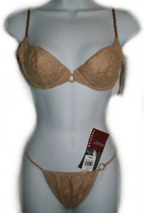 Faux Suede Bra & Panty Set - 34B, Medium - NEW