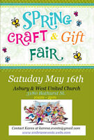Join us for May 16th Craft & Gift Sale at Asbury & West!