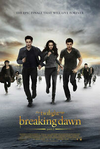 Twilight Breaking Dawn part 2 original movie poster