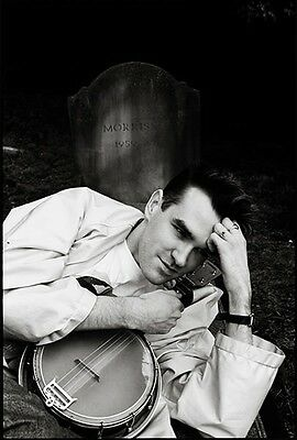 Signed Morrissey Rare Grave Yard Photo