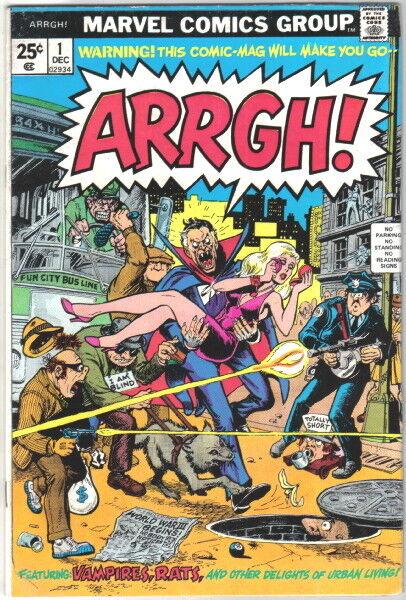 ARRGH! Comic Book #1 Marvel Comics Satire 1974 FINE+