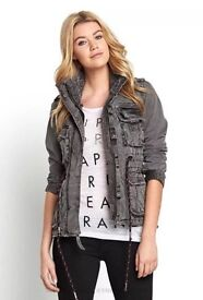 Womens grey Superdry Limited Edition coat jacket