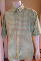 BUGATCHI UOMO Check Short Sleeve Button Up