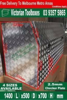Half Opening Aluminium Tool Boxes Recessed Door 1400x500x700 Campbellfield Hume Area Preview