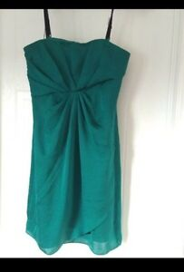 DKNY strapless green dress - Size 0 Kitchener / Waterloo Kitchener Area image 2