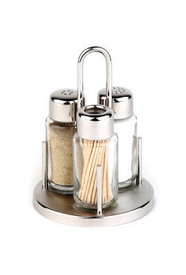 Menage mit Salzstreuer Pfefferstreuer und für Zahnstocher Gewürzständer Ø 10,5cm
