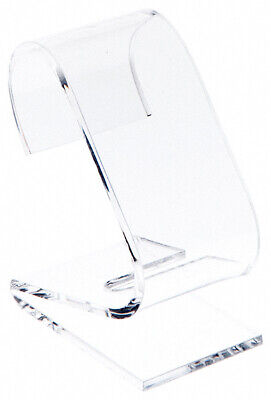 Plymor Clear Acrylic Watch Display Stand 1.5 W X 2.25 D X 3 H 2 Pack