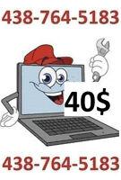 Réparation ORDI / Formatage Windows7--///-8.1  + antivirus 40$