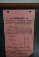 Antique & Rare Grand Trunk Railway 1898 Shipping Form