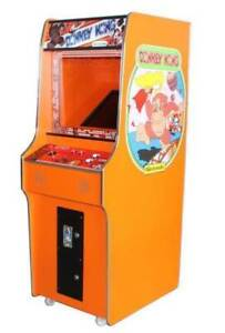 ORANGE DONKEY KONG 60 GAME STAND UP MACHINE NEW WARRANTY