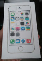 BRAND NEW OR BARELY USED IN BOX UNLOCKED IPHONE 5S 16/32/64GB