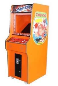 ORANGE DONKEY KONG 60 GAME STAND UP MACHINE NEW WARRANTY