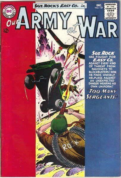 Our Army At War Comic Book #137, DC Comics 1963 FINE