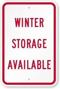 Vehicle winter storage available!