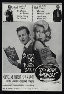 1962-IF-A-MAN-ANSWERS-Movie-SANDRA-DEE-BOBBY-DARIN-VINTAGE-AD