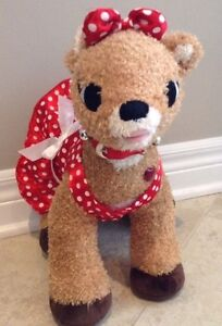 Build a Bear Rudolph Red Nose Reindeer Girl Friend Clarice Light London Ontario image 1