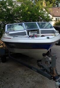 17.5ft 140hp Vangaurd, *would consider trade for snowmobile