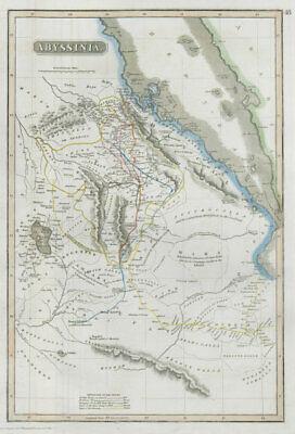 Abyssinia. Ethiopia. Caravan/explorers' routes. Salt Pierce Ras THOMSON 1830 map