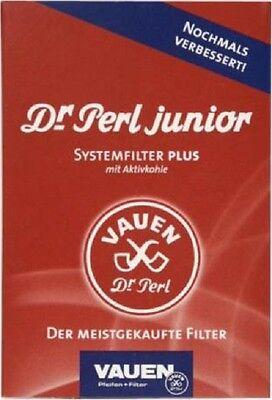 VAUEN DR PERL JUNIOR JUBIG - PFEIFENFILTER - AKTIVKOHLEFILTER - 10  x 100 STÜCK