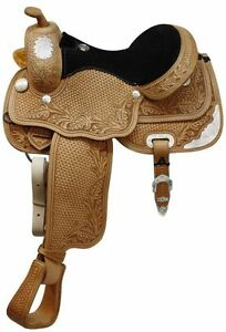 "15"" Western Silver Show Saddle FULL Quarter Horse Bars $1395 New"