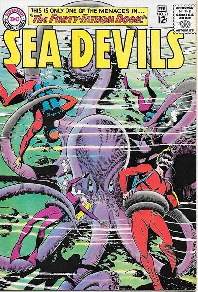 Sea Devils Comic Book #21, DC Comics 1965 VERY FINE