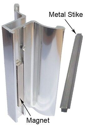 Chrome Frameless Shower Door Handle with Magnet and Stainles