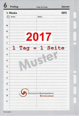 bsb Kalendarium 2017 1Tag=1Seite A5 Multilochung 02-0049 Kalender 2017 Einlage