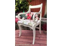 Beautiful Refurbished Bedroom Hall Occasional CHAIR in Shabby Chic