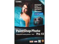 Brand New Boxed Corel Paintshop Photo Pro X3
