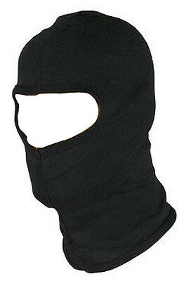 BLACK BALACLAVA BIKE MOTORCYCLE MOTORBIKE HELMET FACE MASK NECK WARMER RIB