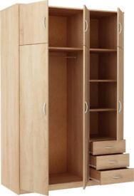New Castle 3 Door 3 Drawer and Top Box - Smoky Oak