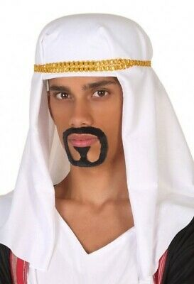 Adult Mens White Arabian Arab Headdress Fancy Dress Costume Outfit Hat