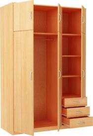 Bradford 3 Door 3 Drawer and Top Box - Beech