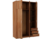 New Castle 3 Door 3 Drawer and Top Box - Walnut