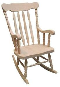 Mennonites handcrafted solid oak wood grandpa rocking chairs Boston rocker - gifts to retired dad mom or friends