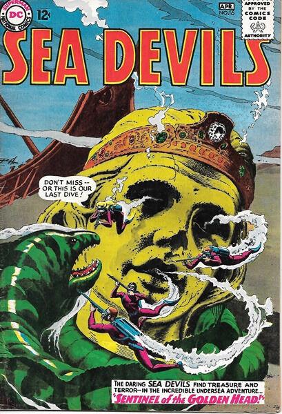 Sea Devils Comic Book #16, DC Comics 1964 FINE+