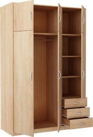 Bradford 3 Door 3 Drawer and Top Box - Smoky Oak