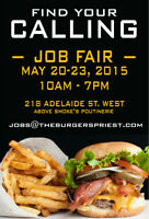 HIRING FAIR Today 10 AM-7 PM | Line Cooks, Cashiers, Supervisors