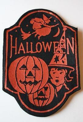 Vintage Halloween Felt Store Counter Display Decoration-Witch,Jack O Lantern