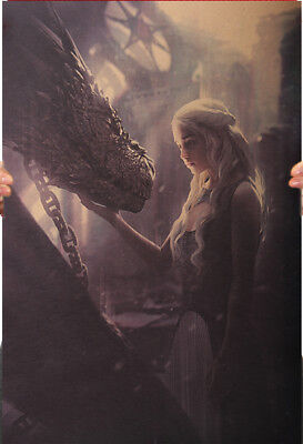 Game Of Thrones   Emilia Clarke As Daenerys Targaryen   Dragon Poster 50 5X35cm