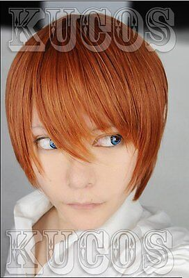 Cosplay Perücke Death Note Light Yagami Short orange - Death Note Light Yagami Cosplay Kostüm