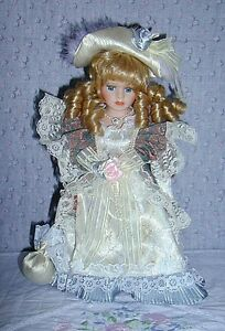 Porcelain Doll with 2 Bears in pocket .. Excellent Condition .. Cambridge Kitchener Area image 6