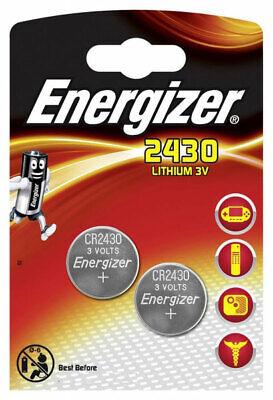 2 x Energizer CR2430 - 1 x 2er Blister 3V Lithium Batterie Knopfzelle 320mAh Energizer Lithium-batterien