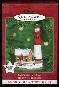 Hallmark Keepsake Lighthouse Greetings with Flashing Light