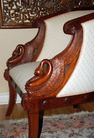 Carved  'SWAN CHAIR'   - 2 Avail.