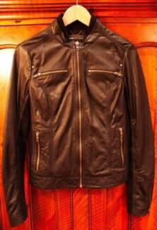 Genuine Leather Jacket - Size 8-10 Medium (MANGO) Sydney City Inner Sydney Preview